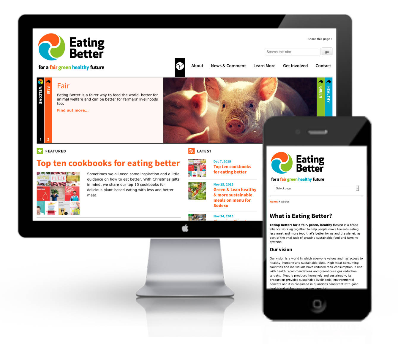 The Eating Better website.