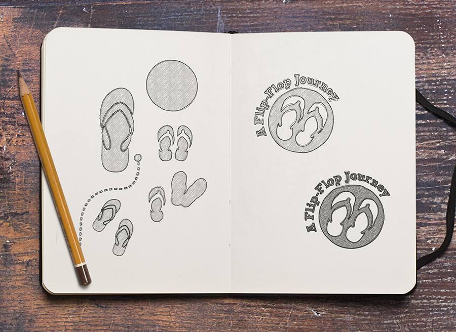Sketches for the Flip Flop logo